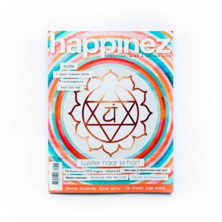 Artdirection, design, happinez magazine, branding, layout design, designstudio, vormgeving, tijdschrift, merk, merkontwikkeling, vormgevingsbureau, cover, omslag