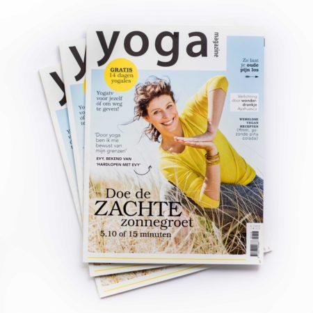 vormgeving, tijdschrift, magazine, artdirection, merk, merkontwikkeling, cover, opmaak, yoga, design, designstudio, vormgevingsbureau, evy, omslag