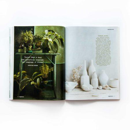 Artdirection, design, happinez magazine, branding, layout design, designstudio, vormgeving, tijdschrift, special, wonen, merk, merkontwikkeling,