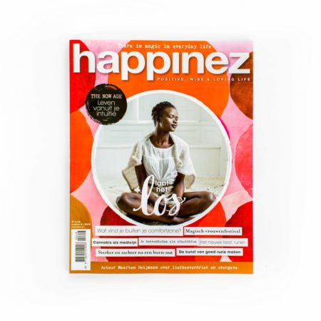 Artdirection, design, happinez magazine, branding, layout design, designstudio, vormgeving, tijdschrift, merk, merkontwikkeling, vormgevingsbureau, cover, omslag