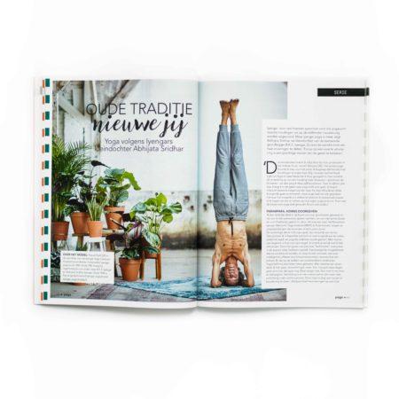 vormgeving, tijdschrift, yoga magazine 5, magazine, artdirection, merk, merkontwikkeling, cover, opmaak, yoga, design, designstudio, vormgevingsbureau, angela schijf, omslag, grafische vormgeving, fotografie, typografie