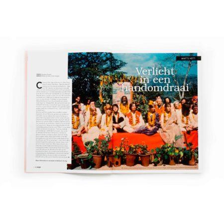 Artdirection, design, Yoga Magazine 5, nederland, magazine, branding, layout design, designstudio, vormgeving, tijdschrift, special, agenda, merk, merkontwikkeling, vormgevingsbureau, cover, omslag, studio 100 procent, studio100% Laren